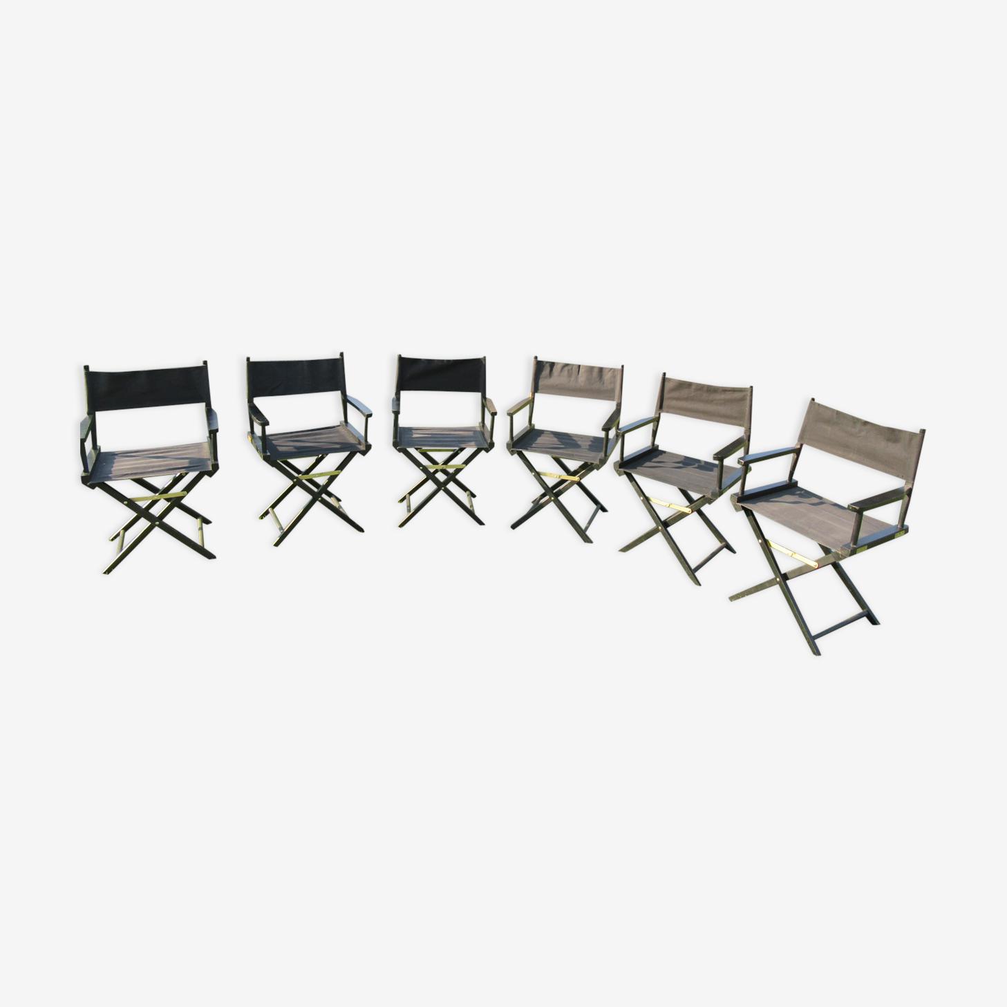 6 fauteuils de metteur en scène