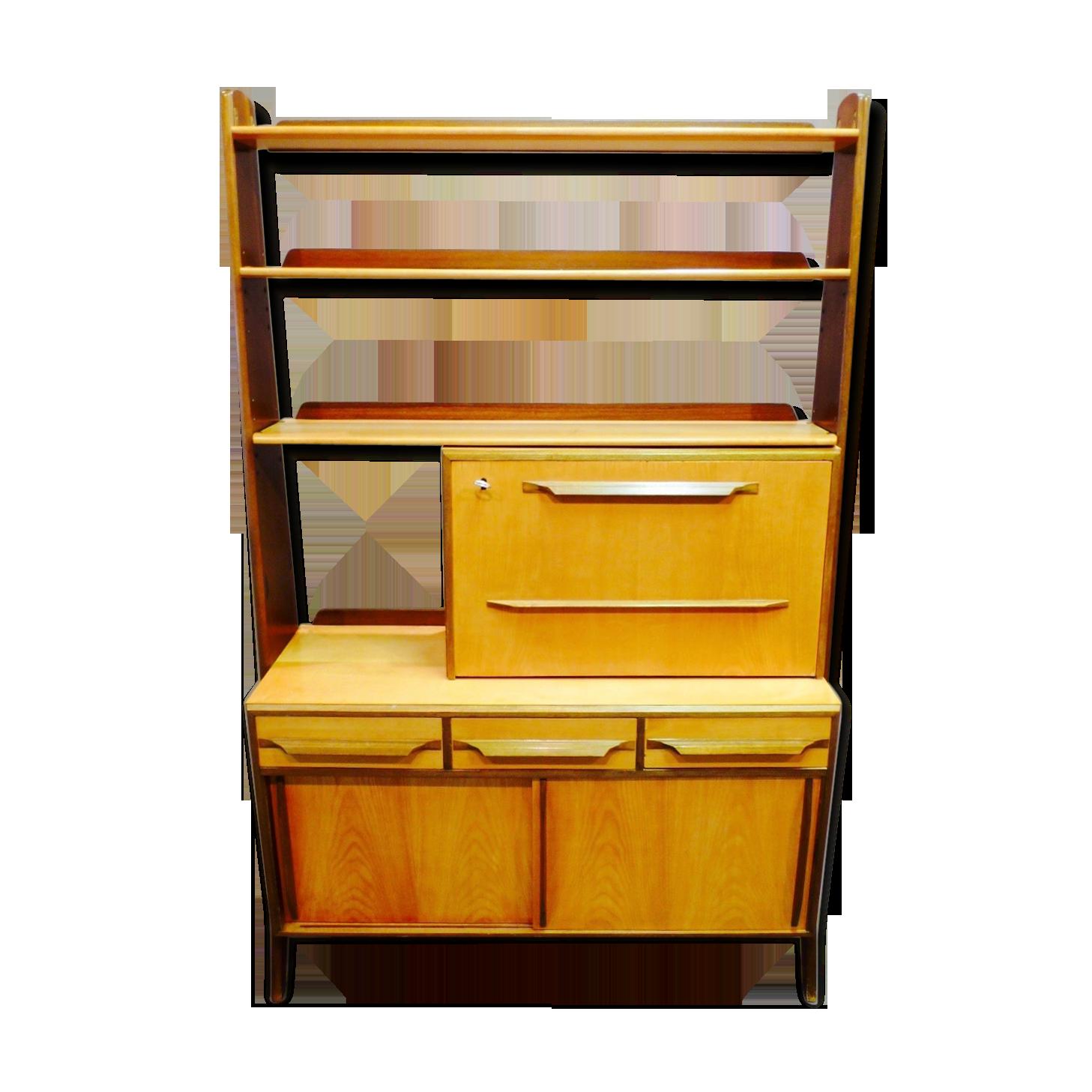 Étagère modulable avec bureau bois matériau bois