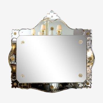 Black Decorative Mirror 1975 110x97cm