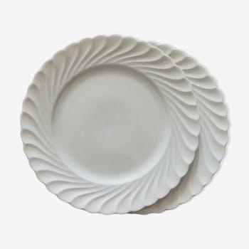 Assiettes à dessert en porcelaine