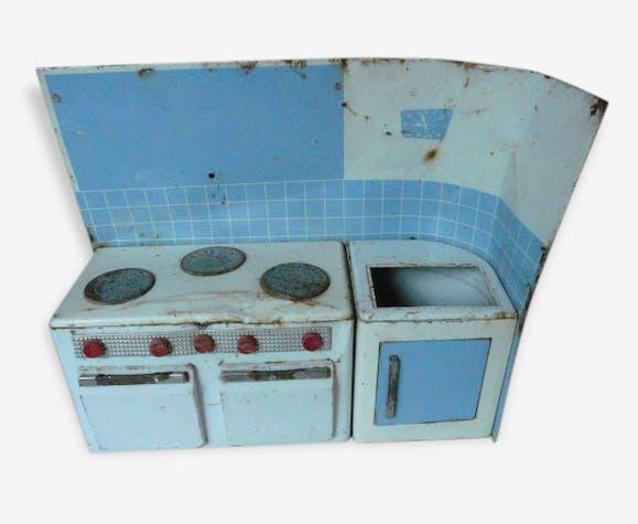 cuisine en tole jouet enfant ann es 60 m tal multicolore vintage 38137. Black Bedroom Furniture Sets. Home Design Ideas