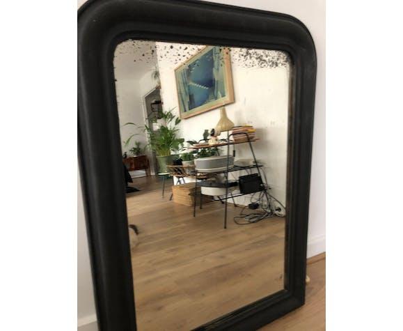 Miroir Louis Philippe noir mat ancien