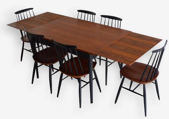 Table avec rallonges Tapiovaara 1955's