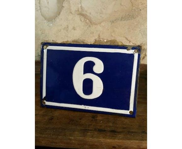 Old enamel house number plate