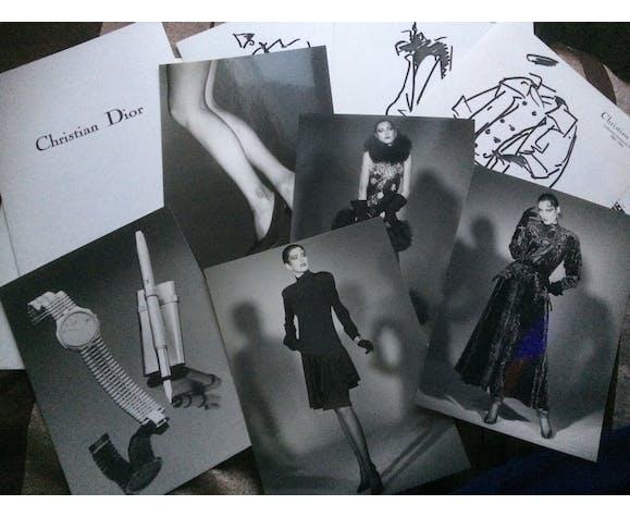 Illustration de mode de presse, collection automne- hiver 1985-1986 Christian Dior