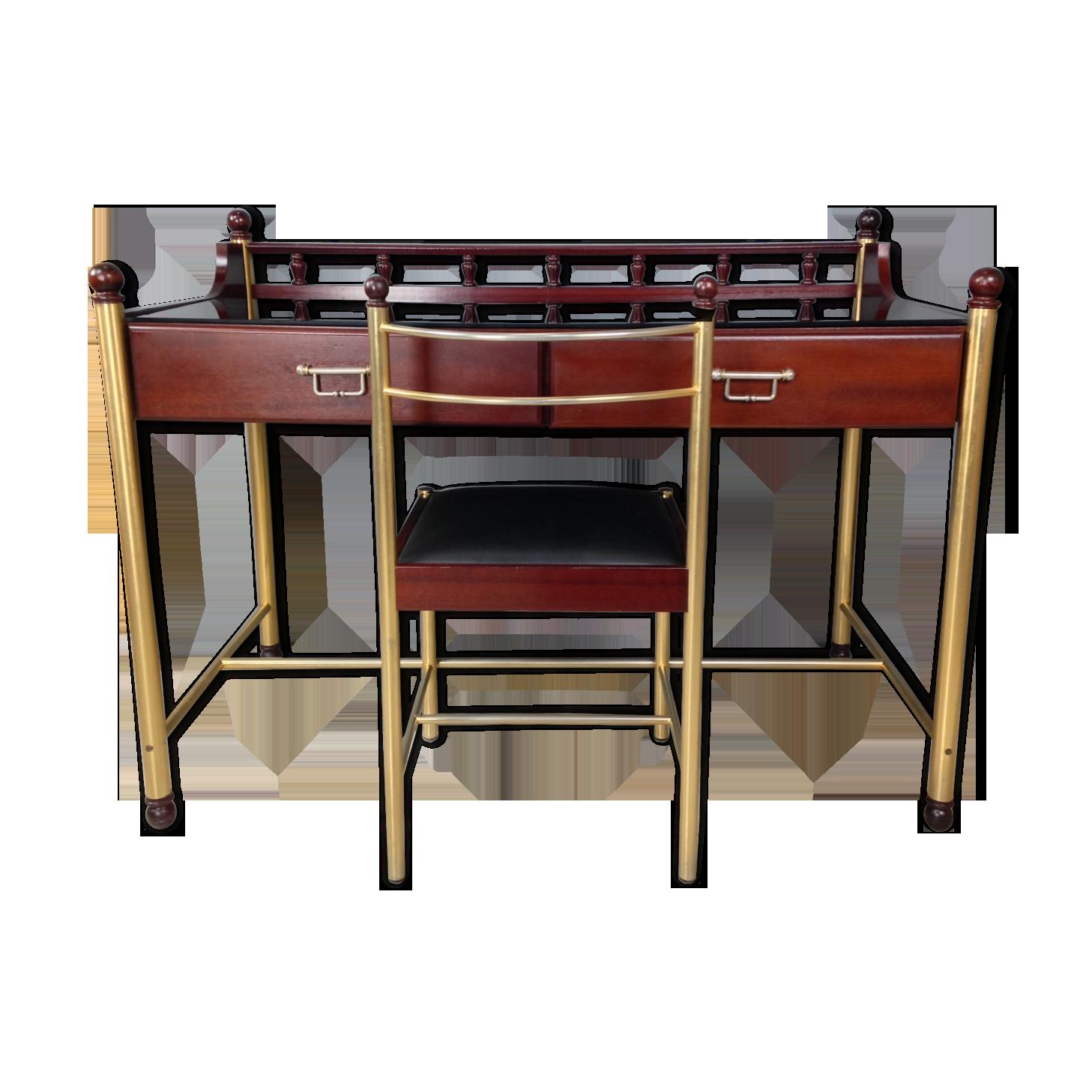 Bureau et chaise assortie des années marque gautier bois