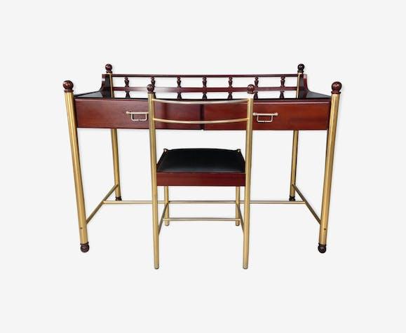 Bureau et chaise assortie des années 70 marque gautier bois