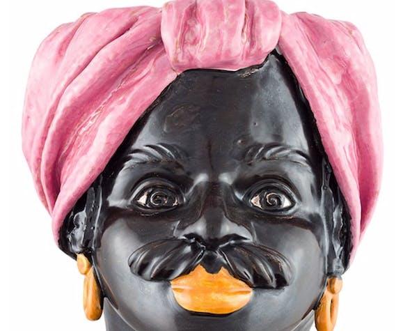 Vase tête moyenne rose homme