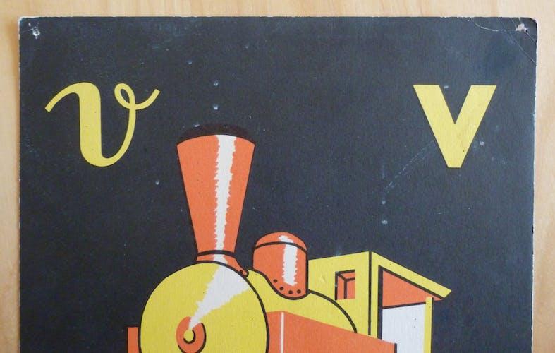 La locomotive, image de lecture