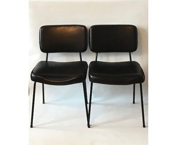 """Paire de chaises  modèle """"palma"""" design André Simard éditées par Airborne"""