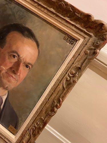 Portrait à l'huile des années 1930