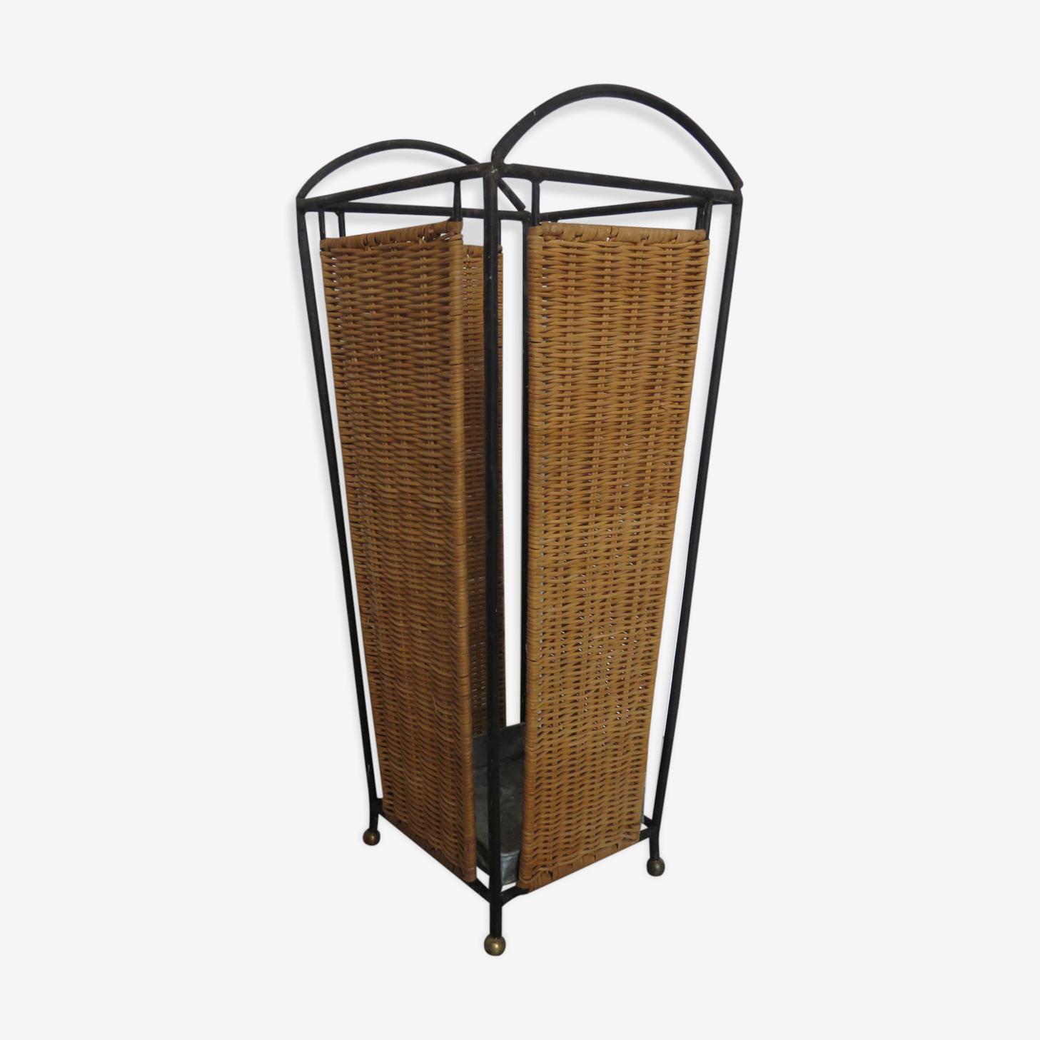 Porte parapluies en ferotin années 50 60