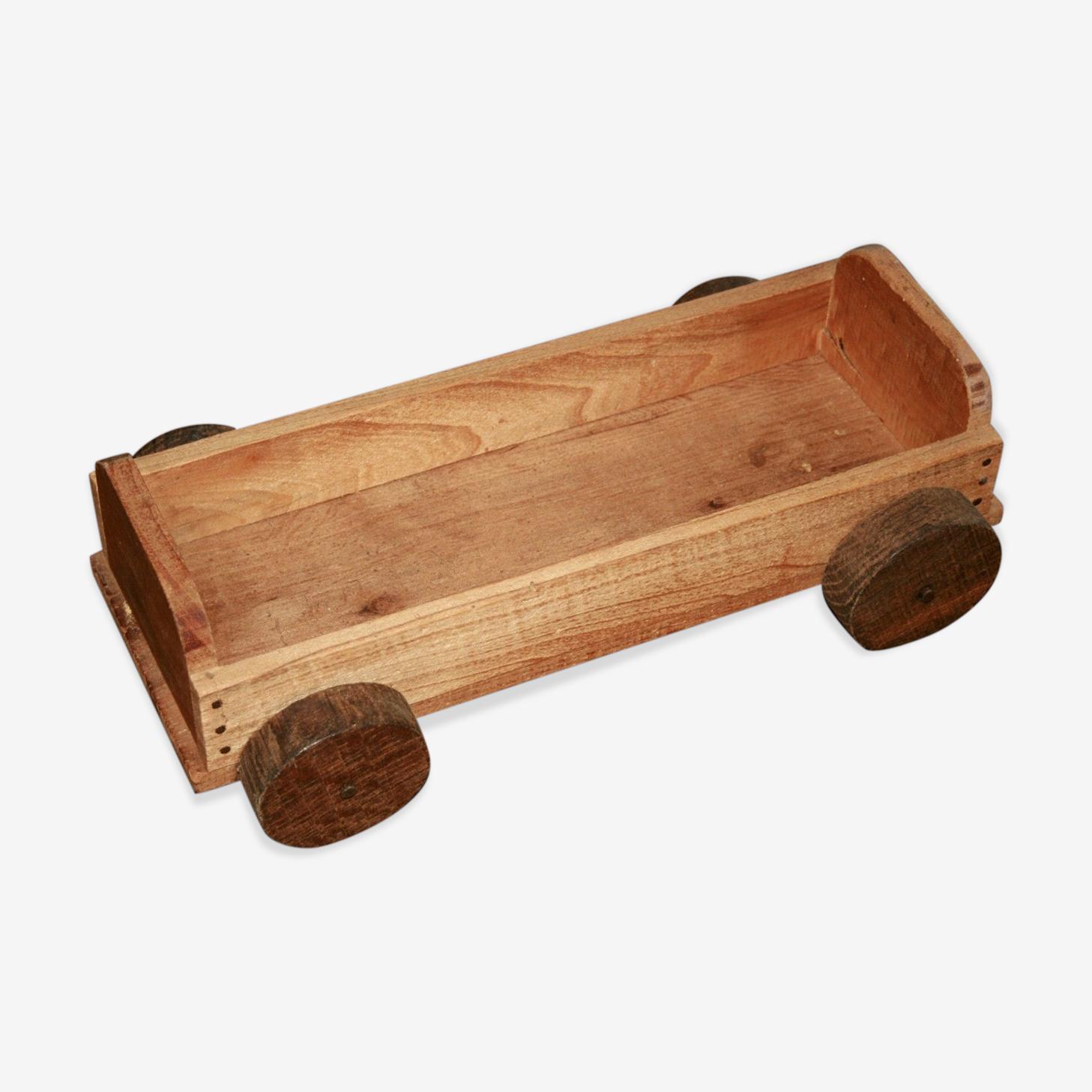 Remorque bois blanc avec roues
