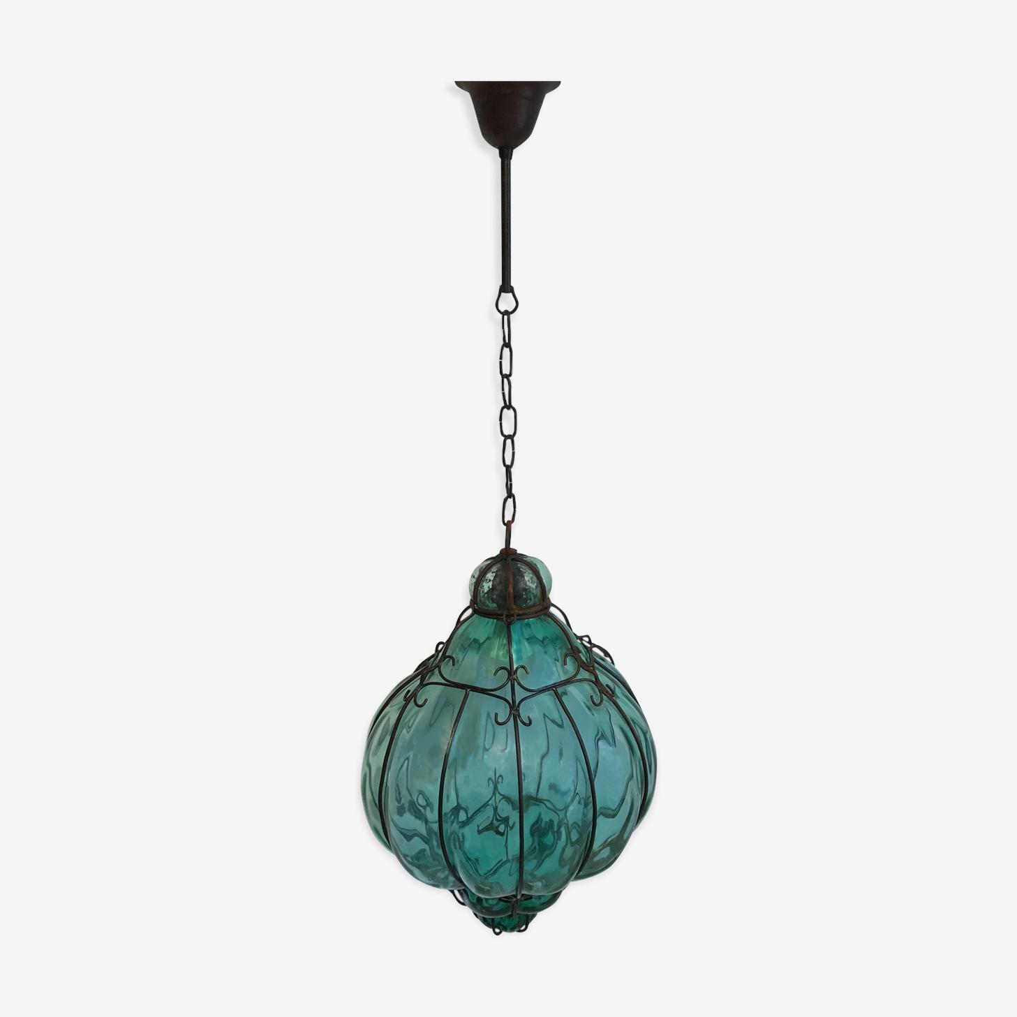Large Murano blown glass Lantern