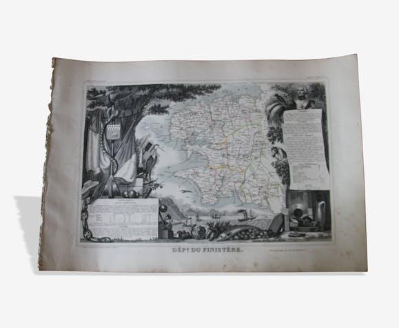 Carte ancienne Levasseur Bretagne - Finistère