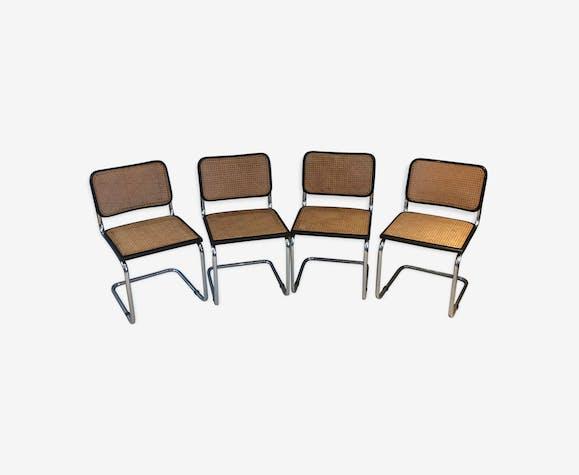 Série de 4 chaises B32 par Marcel Breuer