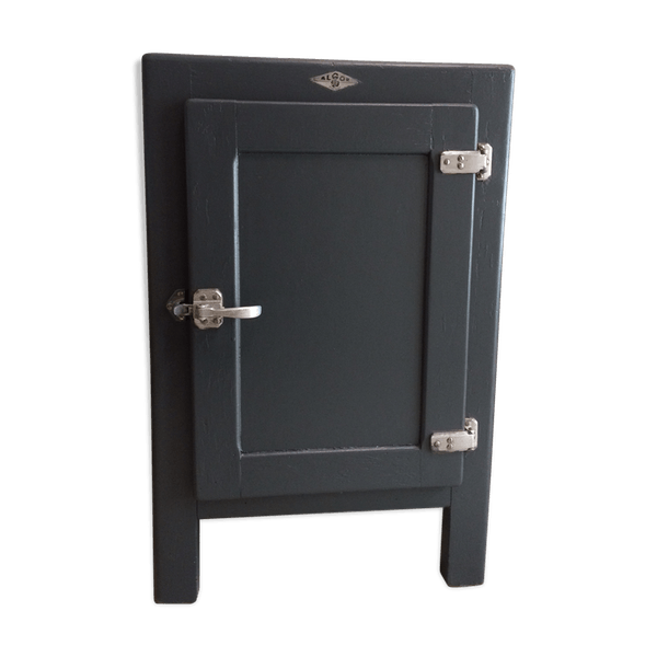 meuble glaci re vintage bois mat riau gris industriel 8elxzkq. Black Bedroom Furniture Sets. Home Design Ideas