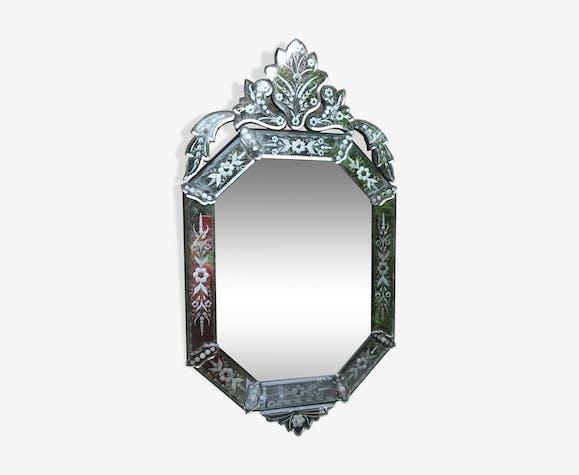 Miroir vénitien vers 1900, 100x54 cm