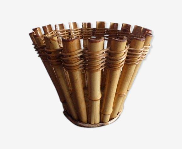 Corbeille vintage bambou et rotin