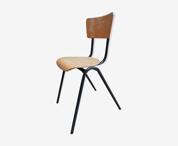 Acier Vintage Bois Pieds 60 Chaise Design Compas 70 Scandinave CshrQxtd