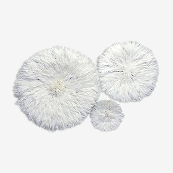 Set of 3 juju hats white 80 cm, 50 cm and 35 cm