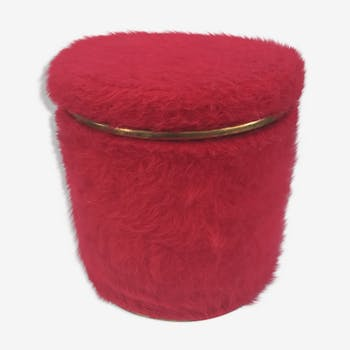 Former Ottoman with chest red fur of the years 70 vintage