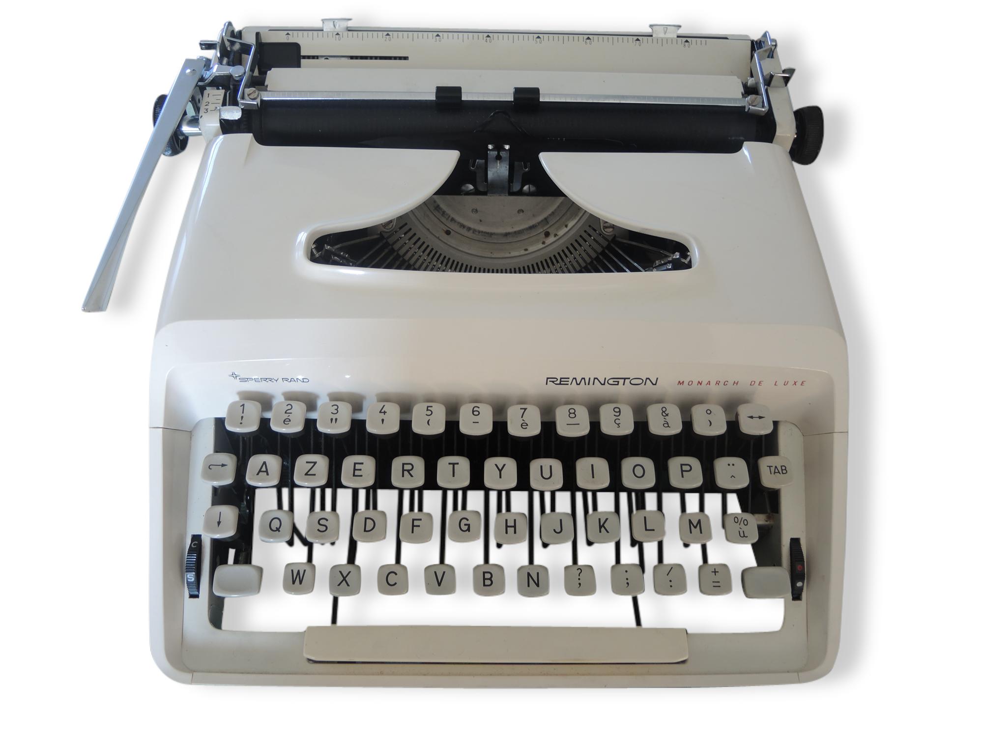 Machine à écrire remington monarch de luxe sperry rand