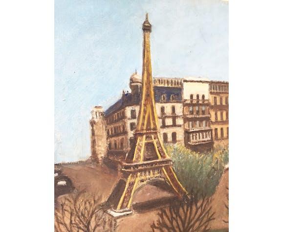 Toile à l'huile «Tour Eiffel»