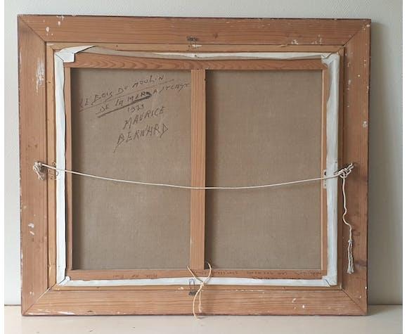 Tableau daté signé et encadré de l'artiste Maurice Bernard 1933