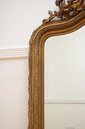 Miroir mural doré