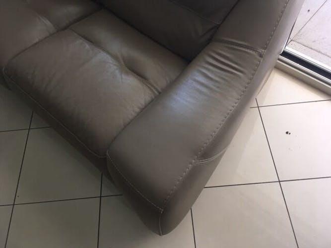 Canapé cuir 2/3 places