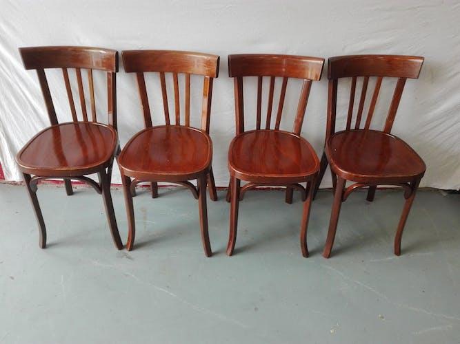 Suite de 4 chaises bistrot Baumann
