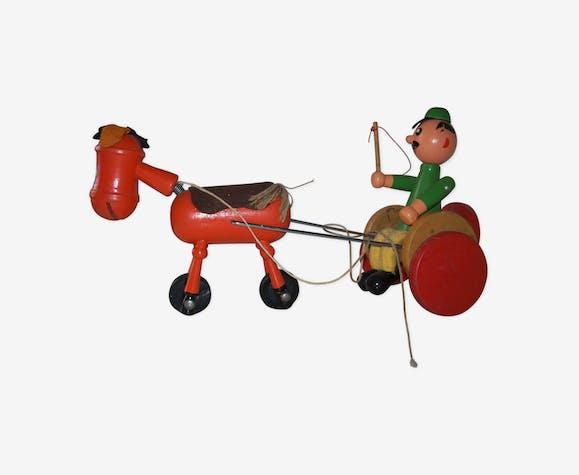 Antique English Rocking Horse Railway Carriage Toy