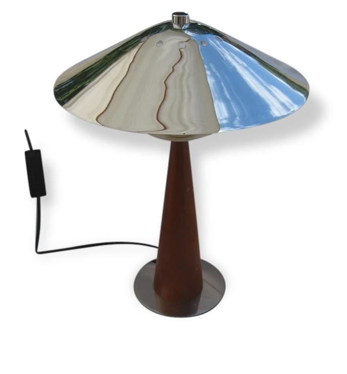 Lampe Champignon Aluminor Vintage - Métal - Design - 98988