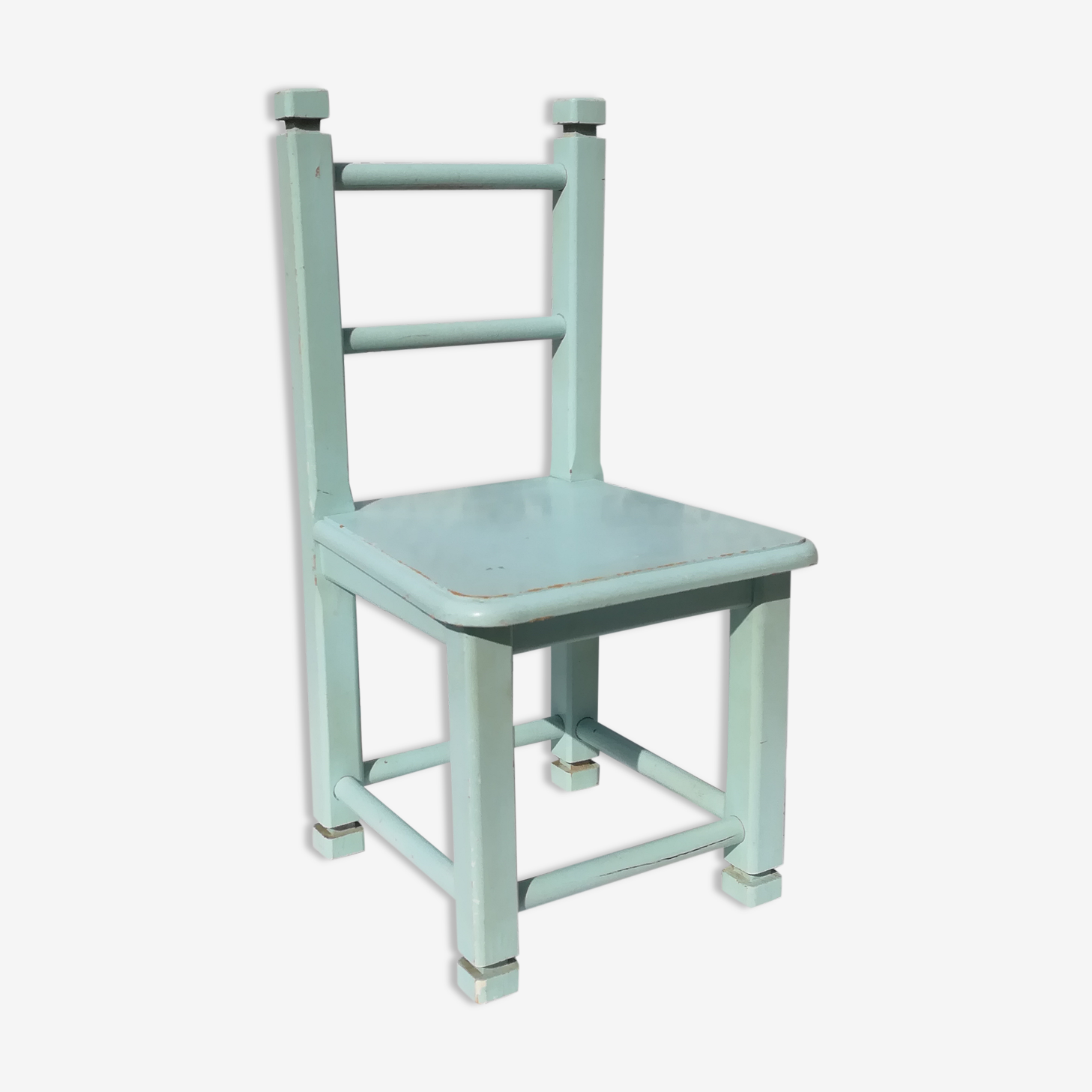 Chair blue frosted children