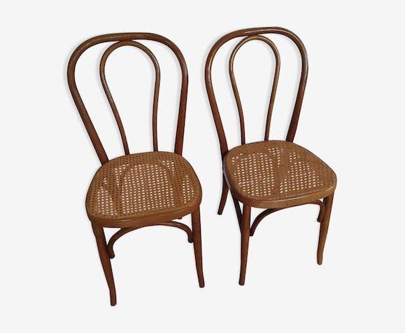 Paire de chaises en cannage