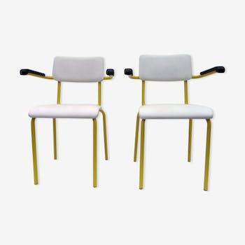 Pair of armchairs in vintage industrial offices, Ahrend de Cirkel, 1970s