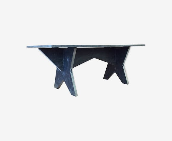 Slate coffee table 70s