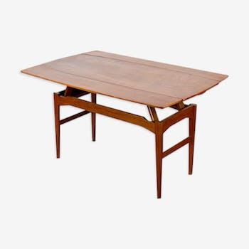 Modular table Danish teak Kai Kristiansen 1960