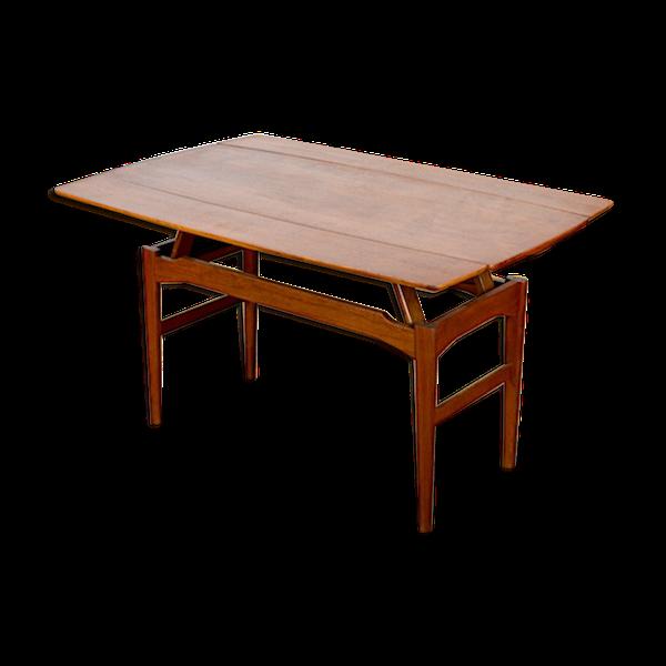 Table modulable danoise en teck par Kai Kristiansen 1960