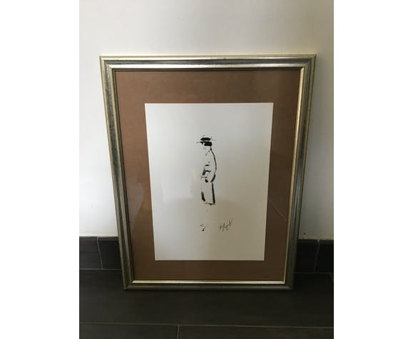 Chanel: pretty illustration/draw/framed fashion sketch.
