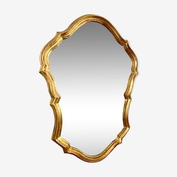 Old baroque gold mirror - 33x47cm