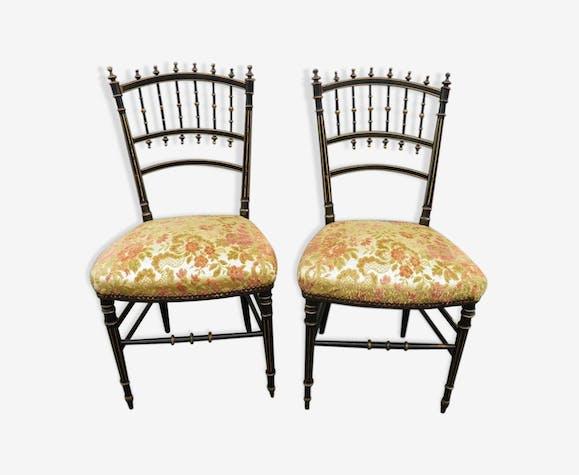 Paire De Chaises Style Napoleon Lll