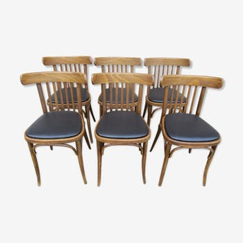 Suite de 6 chaises bistrot assises neuves