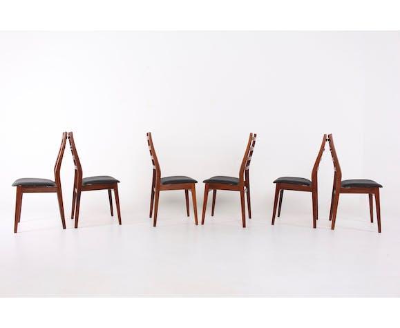 Set de 6 chaises scandinaves en palissandre