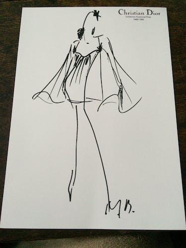 Illustration de mode de presse, collection automne - hiver 1988 -1989 Christian Dior