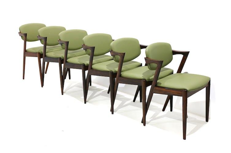 Chaises en bois de rose par Kai Kristiansen