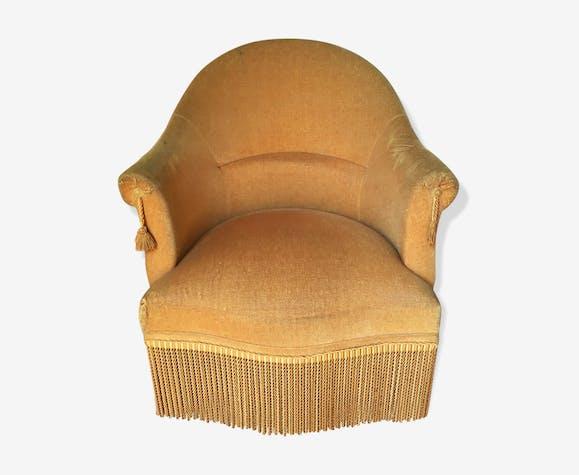 fauteuil crapaud moutarde tissu jaune classique r1wtanr. Black Bedroom Furniture Sets. Home Design Ideas