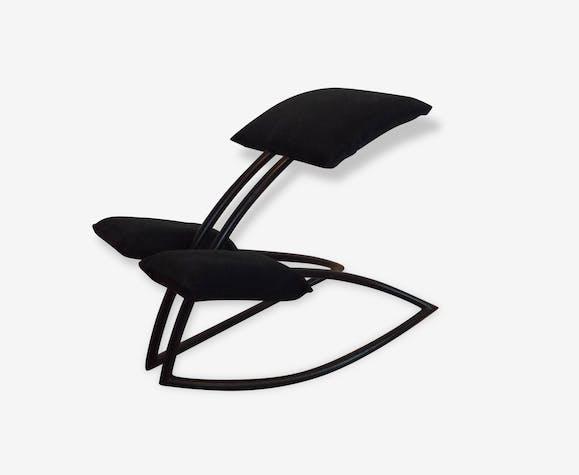 tabouret a bascule philippe starck adulte m tal noir design 143991. Black Bedroom Furniture Sets. Home Design Ideas