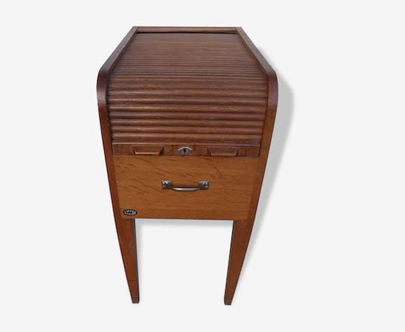 Meuble casier rideau classeur coulissant bas bois mat riau bois couleur vintage 121651 - Rideau meuble bas ...